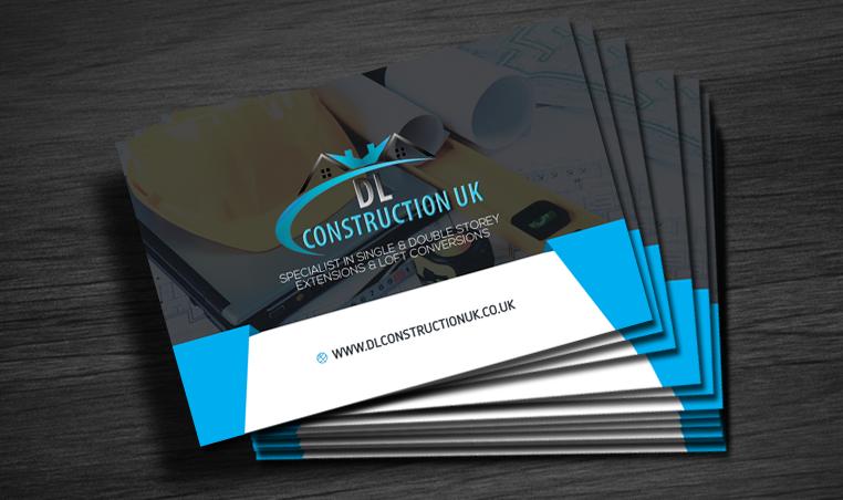 Business cards for building company dl construction uk ltd colourmoves