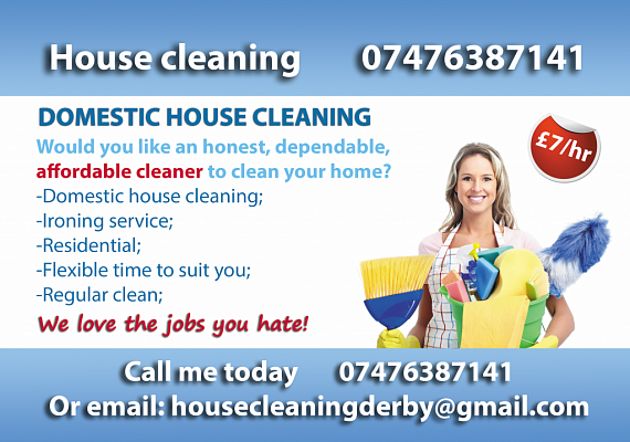 leaflet domestic house cleaning