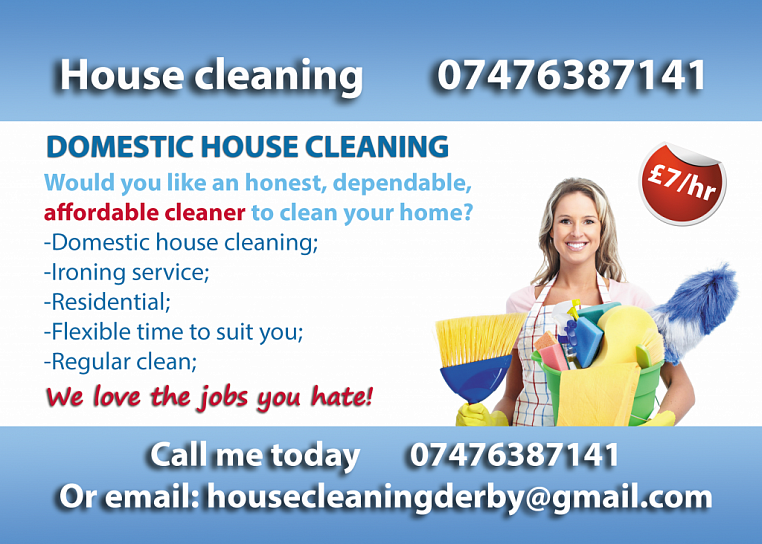 ironing service flyer template - leaflet domestic house cleaning